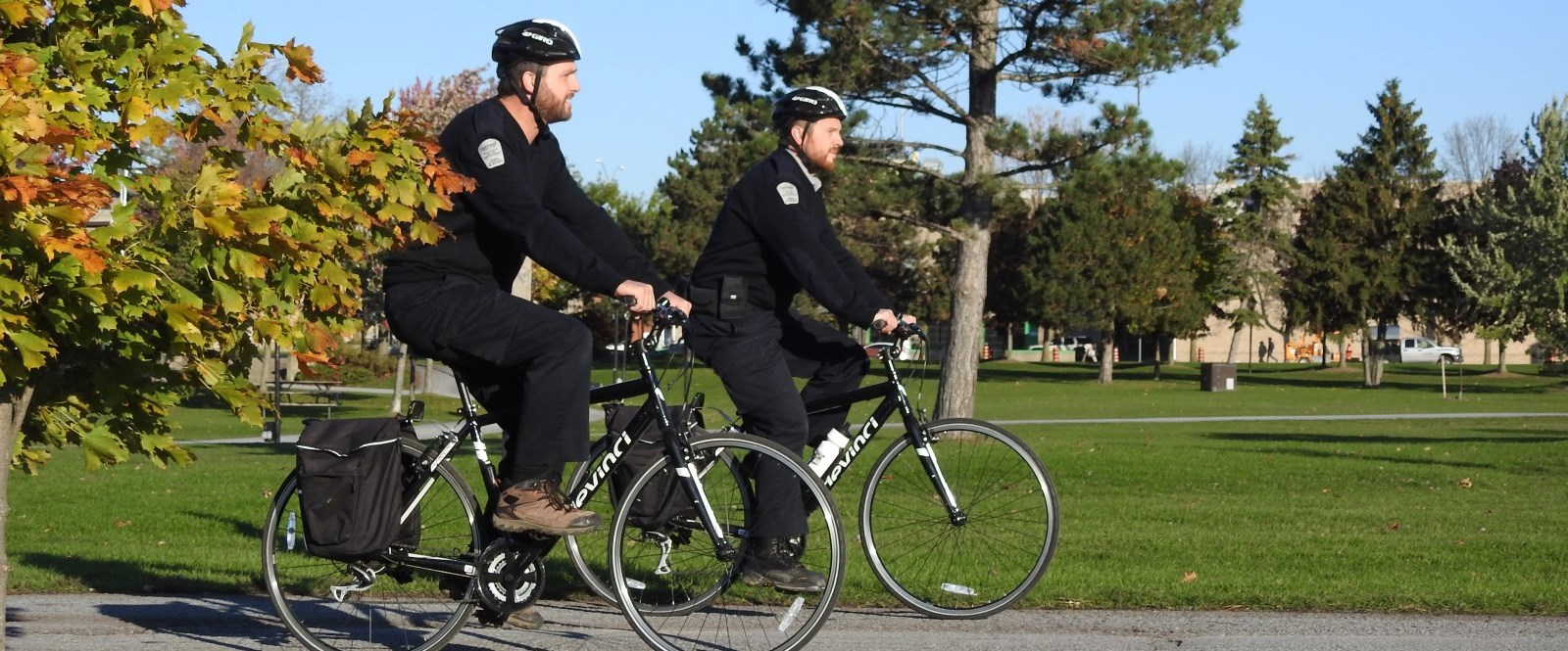 Cornwall by-law inspectors ride bikes in Lamoureux Park