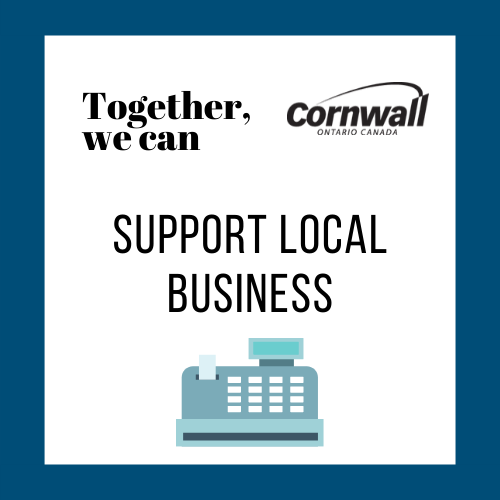 together, we can: support local business