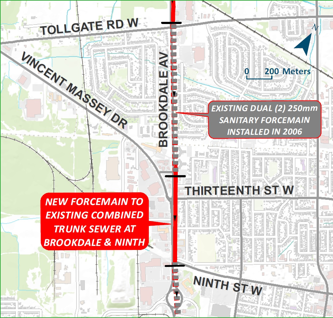 Brookdale Avenue - North Sanitary Sewer Extension Project Map 2
