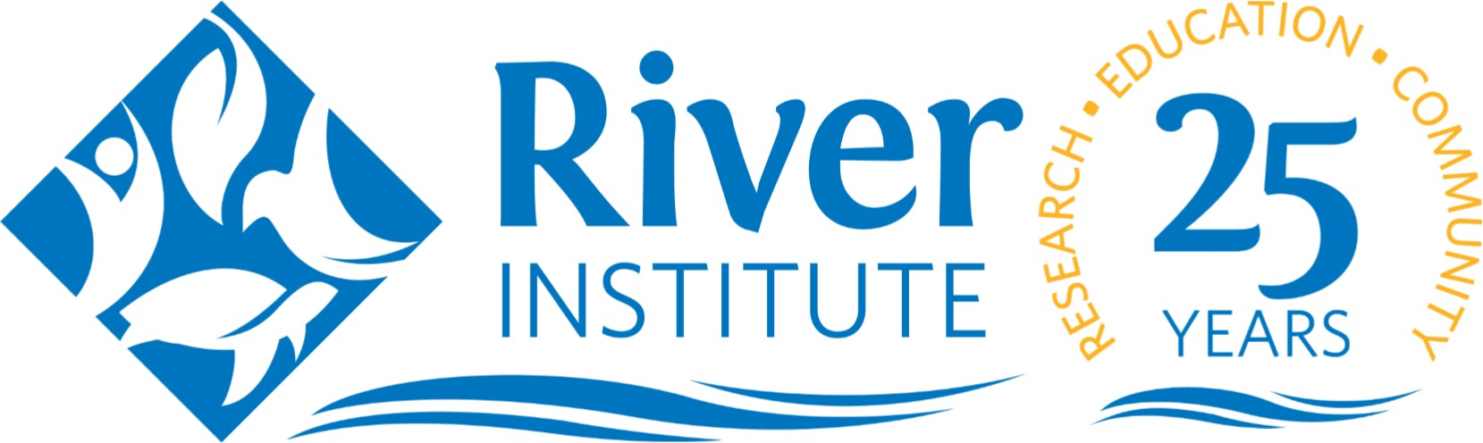 blue and gold river institute logo