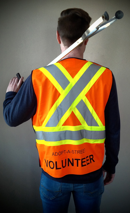 Volunteers must wear orange safety vests