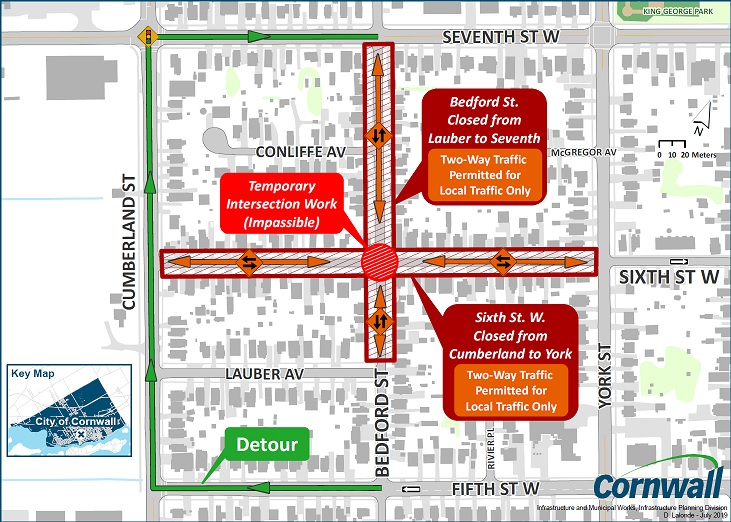 Bedford at Sixth Intersection Closed Map