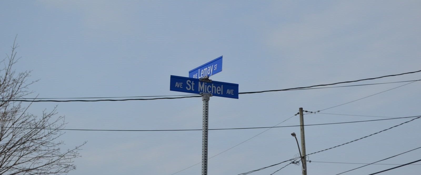 Lemay and St Michel street signs