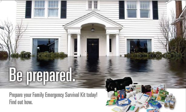 Be Prepared.  Prepare you family emergency survival kit today.  Find out how.