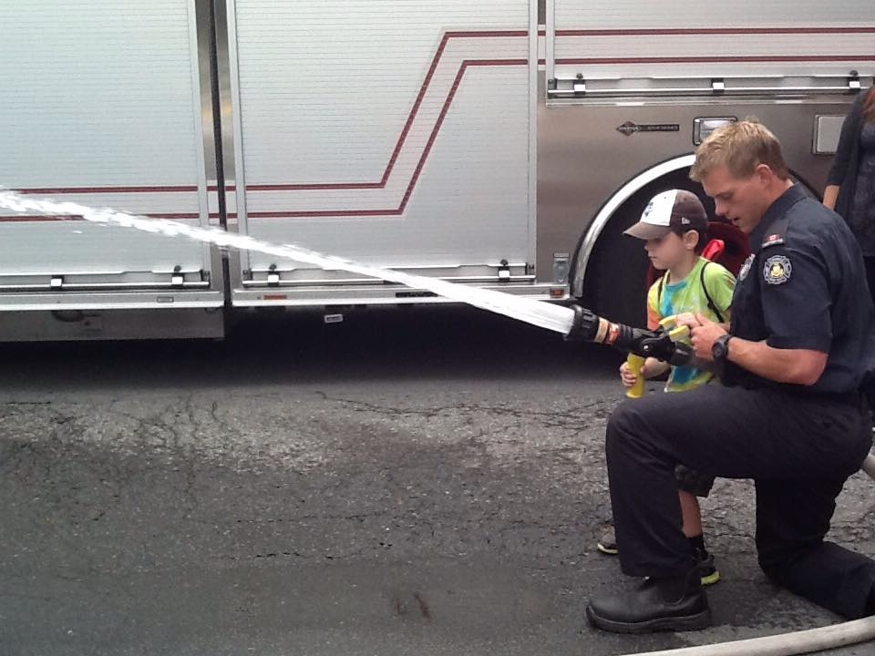Child with Firefighter
