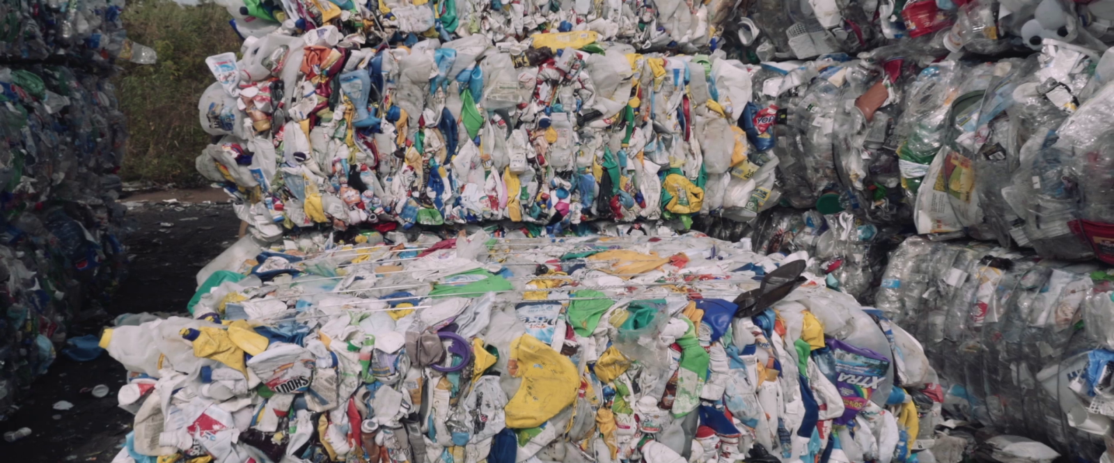 Cornwall Baled recycling at the material recovery facility