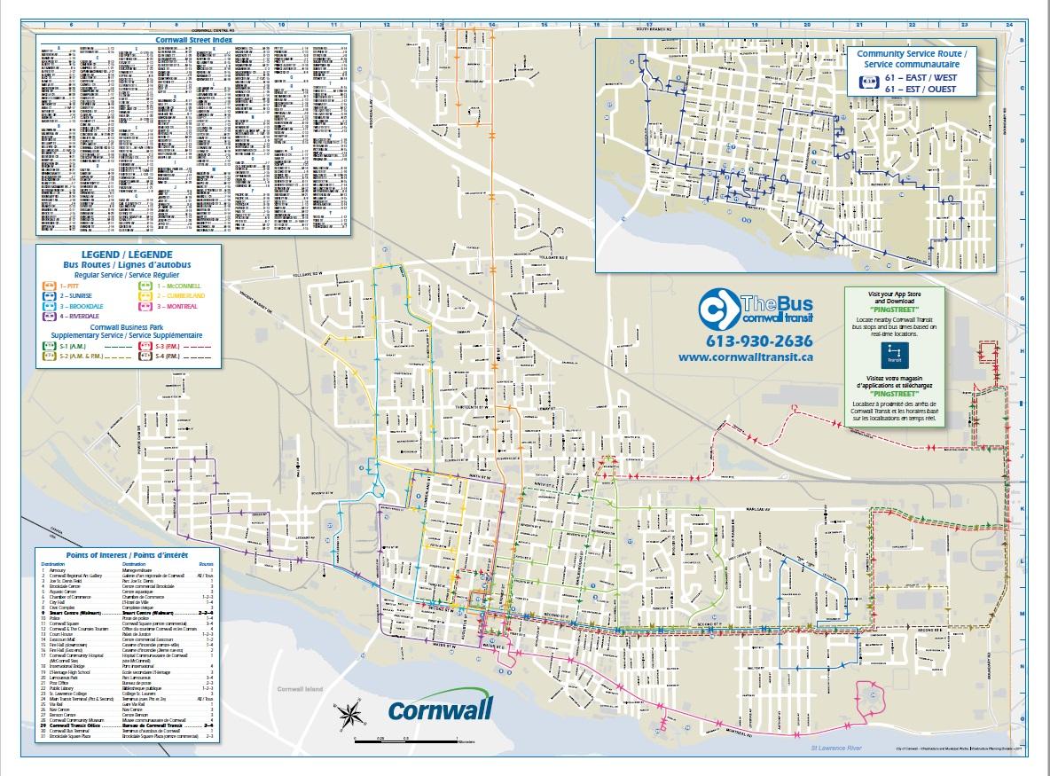 Montreal Subway Map Pdf.Transit Routes City Of Cornwall