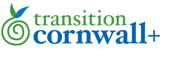 Green and blue Transition Cornwall logo