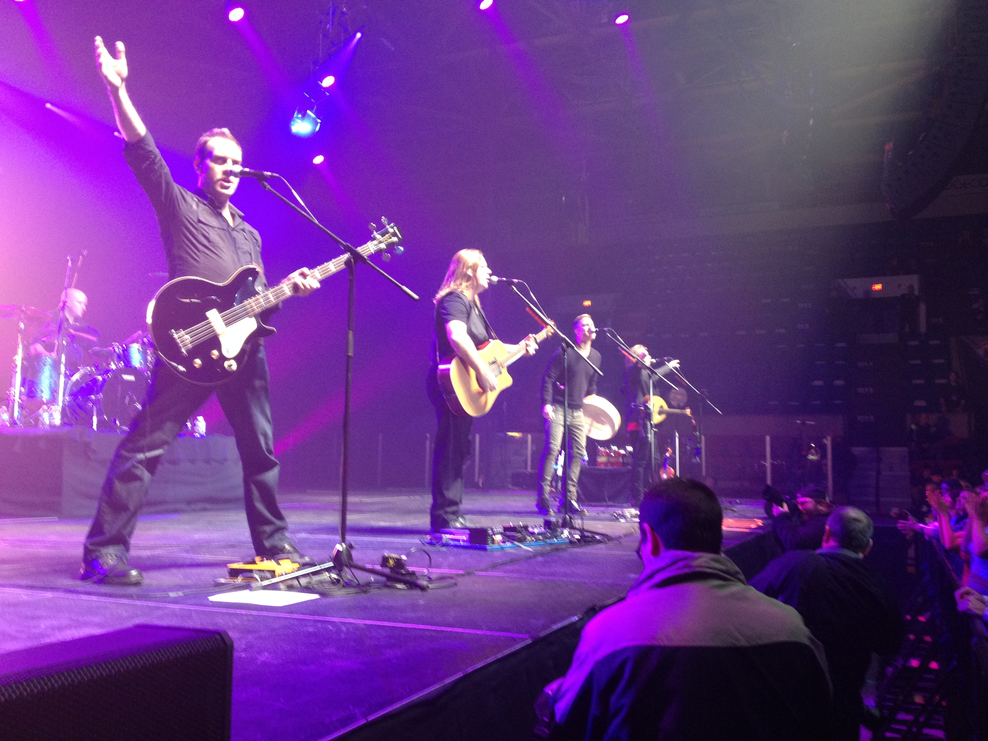 Great Big Sea performs on Civic Complex arena stage